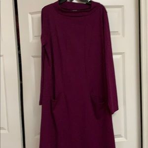 Chadwick's plum dress